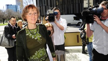 Liberal Senator Mary Jo Fisher at an earlier court appearance.