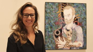 Hugo and me ... Del Kathryn Barton with her  winning entry at the Art Gallery of NSW.