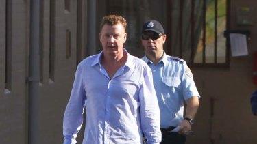 Brad Cooper leaves Kirkconnell prison.