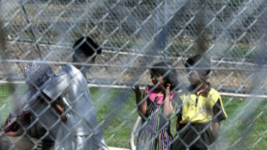 Children in the Villawood Detention Centre.