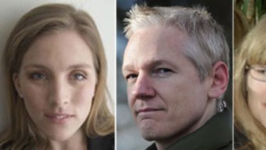 The accused and his accusers ... Anna Ardin, Julian Assange and Sodia Wilen.