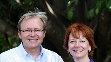Kevin Rudd, with his deputy Julia Gillard, underwent a casting call for his role as Labor leader.