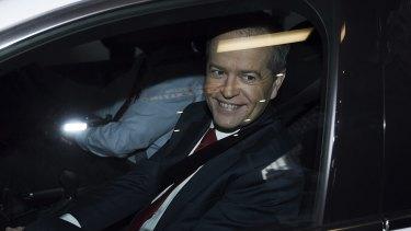 Bill Shorten leaving the Royal Commission hearing.