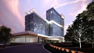 An artist's impression of Crown Towers.