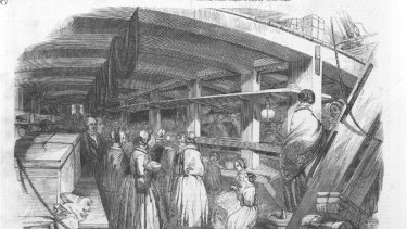 Below decks of the Culloden from the Illustrated London News, 17 August 1850.