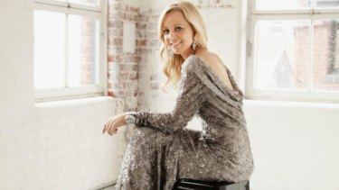 Carrie Bickmore has returned to work after giving birth to daughter Evie in March.