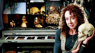 Dark arts: Terry Taylor in her Northcote studio.