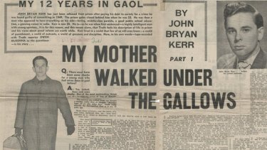 Other than being a subject of stories, John Bryan Kerr was himself a journalist, penning newspaper articles after his release.