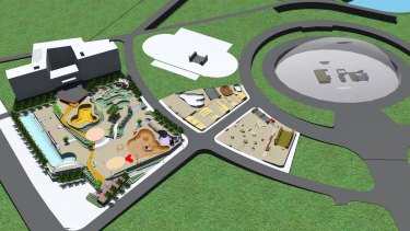 Plan of the Guangzhou skate park, which is as big as four football fields.