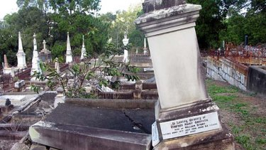 Fragile graves at Toowong Cemetery.