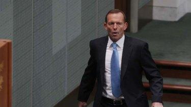 Return to the firing line ... Tony Abbott.