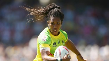 Hot shot: Australian sevens star Ellia Green is the country's most marketable rugby player.