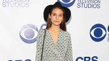 Caitlin Stasey arrives at the CBS Summer Soiree at The London West Hollywood on May 19, 2014