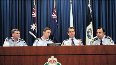 In a majority ...  from left, the AFP's Frank Prendergast and Mick Keelty with NSW Police Commissioner Andrew Scipione and  Nick Kaldas.