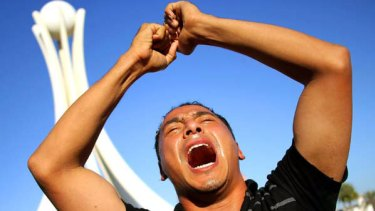 Anti-government demonstrators rally as they re-occupy Pearl roundabout in Manama, Bahrain.
