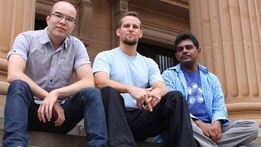 Fluent founders Cameron Adams, Jochen Bekmann and Dhanji Prasanna.
