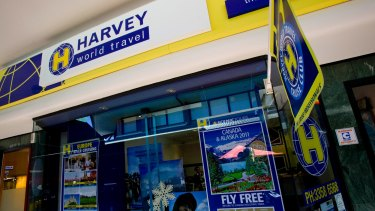 Many Harvey World Travel outlets were rebranded in 2013.