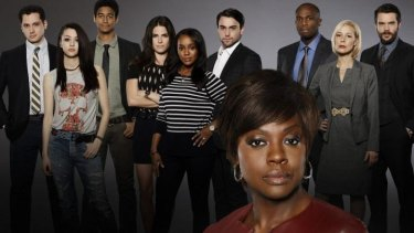 Viola Davis (bottom), who plays law professor Annalise Keating, leads the cast of <i>How To Get Away With Murder</i>.