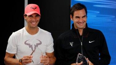 Legends: Rafael Nadal and Roger Federer.