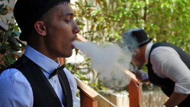 """In-home function shisha packages range from $1200 to $3500 and come with """"Shisha Butlers"""" and illuminated furniture."""
