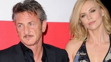 With her partner, Sean Penn in March.