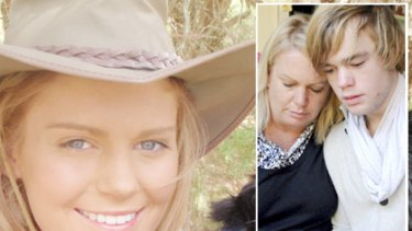 Sad loss ... Jessica Macmillan, who took her own life; and (inset) her grieving mother Jo and brother David.