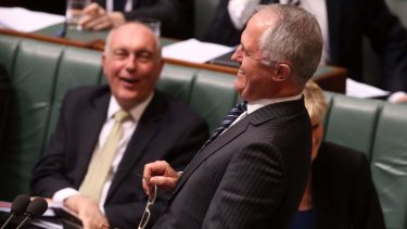 Malcolm Turnbull during question time. Photo: Andrew Meares