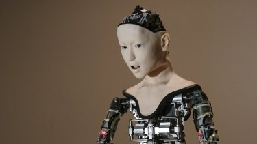 """The humanoid robot """"Alter"""" at the National Museum of Emerging Science and Innovation in Tokyo."""
