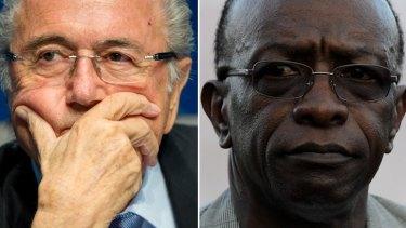 FIFA powerbrokers Sepp Blatter and Jack Warner.