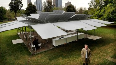 Adaptable: Come rain, hail or shine, the temporary MPavilion has it covered.