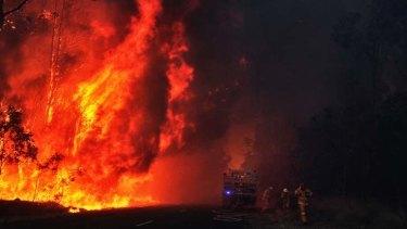 Horror start to the bushfire season: the recent blaze at Londonderry.