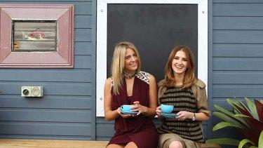 Jet-setter: Jesinta Campbell and Kate Waterhouse.