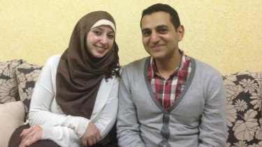 Trapped: Gazan newlyweds Sameeha, left, and Ayman.