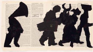William Kentridge, Portage (detail), 2000; Collage on book pages; Collection the artist, courtesy Marian Goodman Gallery, New York, and Goodman Gallery, Johannesburg; Copyright 2010 William Kentridge; photo: John Hodgkiss, courtesy the artist.