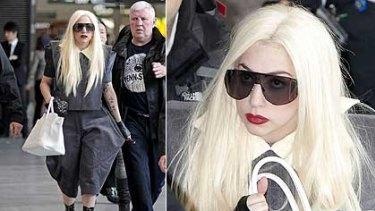 Lady Gaga arrives in Tokyo.