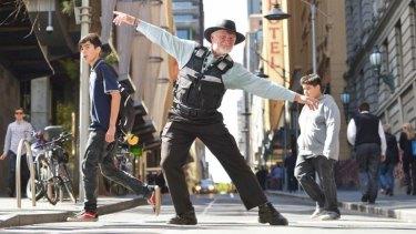 One of Gideon Obarzanek's dancing parking inspectors.