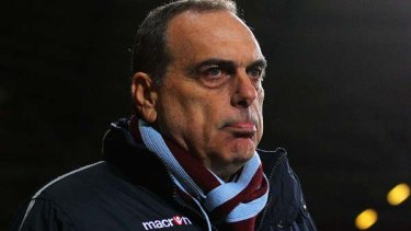 On the outer . . . Avram Grant manager of West Ham United.