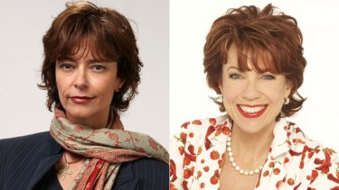 Not giving up ... Rachel Ward, left, and Kathy Lette.