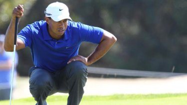Putting problem: it wouldn't drop for Tiger Woods.