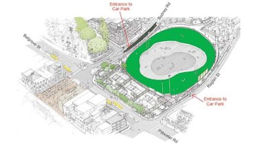 State of play: An artist's impression of the redeveloped Manly Oval area.