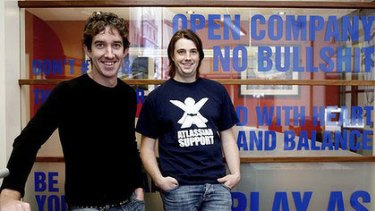 """We want to grow to a billion dollars"" ... Atlassian co-founders Scott Farquhar and Mike Cannon-Brookes."