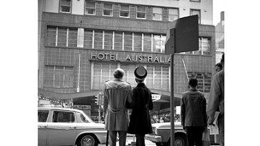 The former Australia Hotel in 1970.