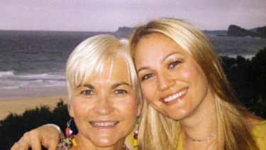 Tragedy ... Sarah Wynter, right, with mum Helen.