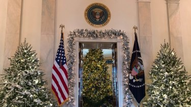 It's time to put up the Christmas tree ... Donald Trump has already had the Blue Room decorated in the White House.
