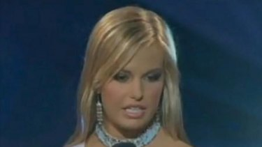 Lost for words ... Miss Teen South Carolina 2007 Caitlin Upton