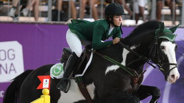 Dalma Malhas, pictured here representing Saudi Arabia at the Youth Olympic Games in  Singapore in 2010.