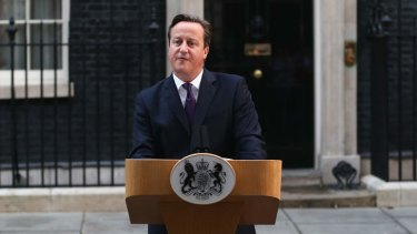 Prime Minister David Cameron gives a press conference following the results of the Scottish referendum on independence.