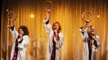 Gospel magic: Josie Lane, Marika Aubrey and Esther Hannaford in <i>Miracle City</i>.