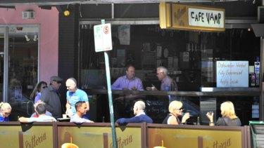 Cafe Vamp in Hawthorn yesterday.