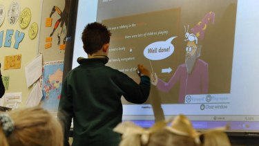 More than just a projection: new technology could see interactive tabletops and wall displays in classrooms.
